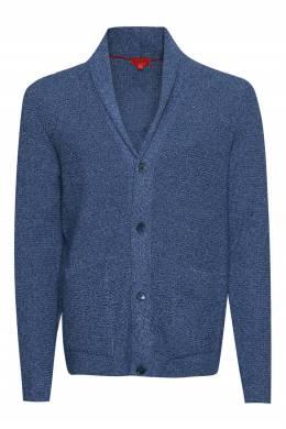 Синий кардиган с карманами Isaia 2328189645