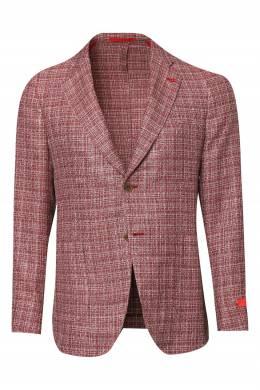 Бордовый меланжевый пиджак Isaia 2328189662