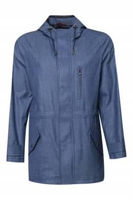 Синяя куртка с капюшоном Isaia 2328189673