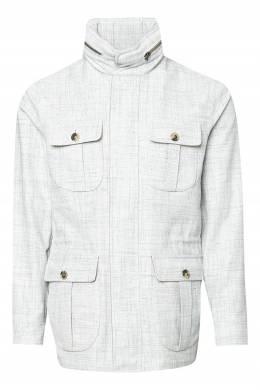 Серая меланжевая куртка Isaia 2328189672