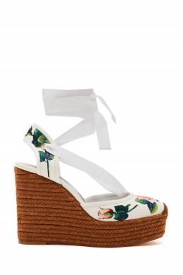 Принтованные туфли на танкетке Dolce&Gabbana 599189793