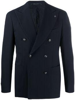 Tagliatore двубортный пиджак с заостренными лацканами 71UEG042