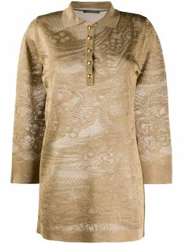Alberta Ferretti рубашка-поло с длинными рукавами и кружевом A09381604