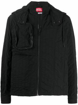 Diesel Red Tag куртка с капюшоном из коллаборации с A-Cold-Wall* ACWSH03BLK