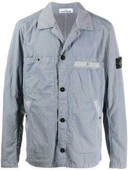 Stone Island куртка-рубашка с нашивкой-логотипом MO721544229
