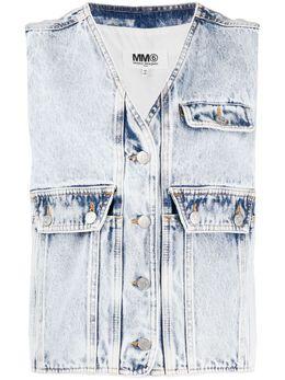 Mm6 Maison Margiela джинсовый жилет S52FB0051S30640