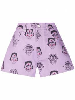 Kirin джинсовые шорты с принтом KWYC001S20DEN0013636