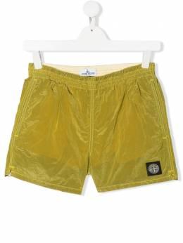 Stone Island Junior плавки-шорты с нашивкой-логотипом MO7216B0213
