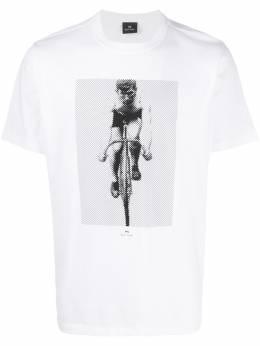 Ps by Paul Smith cyclist print T-shirt M2R011RAP1891