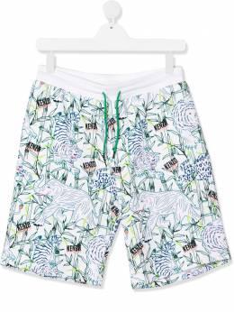 Kenzo Kids шорты с принтом Tiger KQ25578