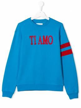 Alberta Ferretti Kids TEEN slogan embroidered sweatshirt 022145