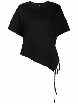 Y-3 футболка асимметричного кроя с короткими рукавами FN3543