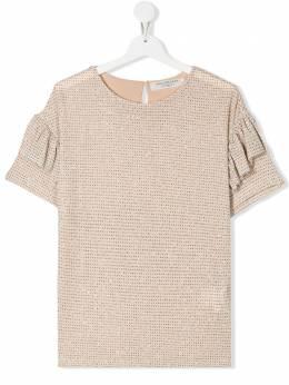 Philosophy Di Lorenzo Serafini Kids TEEN glitter-effect T-shirt PJTS27TV576VH015T