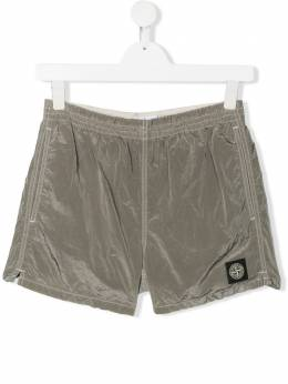 Stone Island Junior wrinkle effect swim shorts MO7216B0213