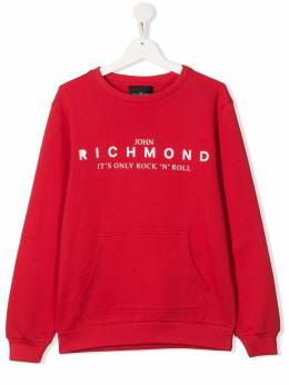 John Richmond Junior TEEN logo print sweatshirt RBP20120FE