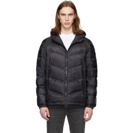 Woolrich Black Down Chevron Hooded Jacket WO0178