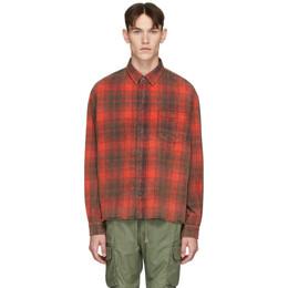 John Elliott Red Hemi Oversized Shirt E047I32447A