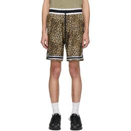 John Elliott Brown Game Shorts C033M23415A