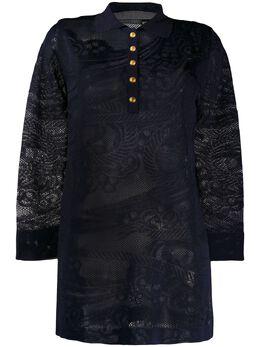 Alberta Ferretti трикотажная рубашка оверсайз A09381604