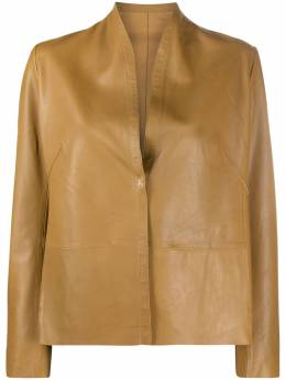 S.w.o.r.d 6.6.44 collarless leather jacket SE206408