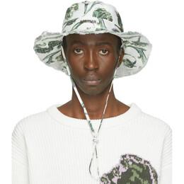 Jacquemus White Artichoke Le Bob Artichaut Bucket Hat 205AC02-205 6953S