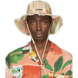 Jacquemus Multicolor Striped Le Bob Artichaut Bucket Hat 205AC02-205 6904C