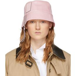 Loewe Pink Leather Bucket Hat 112.10.200