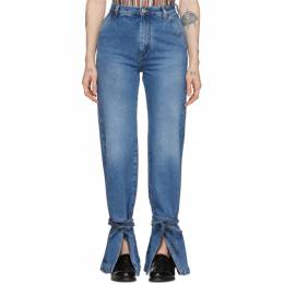Loewe Blue Tie Cut Panel Jeans S2102360IB