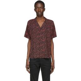 Saint Laurent Black and Pink Leopard Shirt 596009Y1A78
