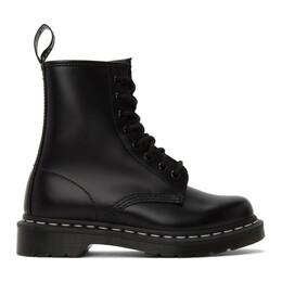 Dr. Martens Black 1460 Contrast Stitch Boots R24758001