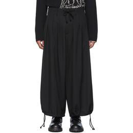 Yohji Yamamoto Black Wool Balloon Pants HN-P06-100