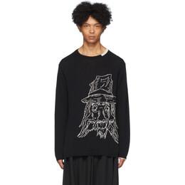 Yohji Yamamoto Black Yohji Sweater HN-K11-098
