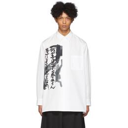 Yohji Yamamoto White Big Shirt HN-B52-024