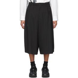 Yohji Yamamoto Black Elastic Shorts HN-P25-100