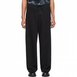 Yohji Yamamoto Black Regular String Jeans HN-P12-005