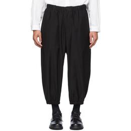 Yohji Yamamoto Black Tab Gather Trousers HN-P32-013