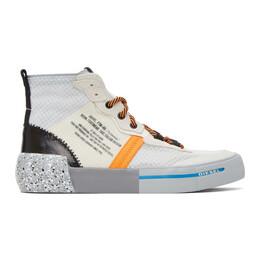 Diesel White and Orange S-Dese Sneakers Y02153 P3157