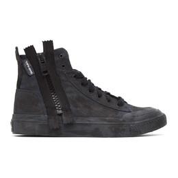 Diesel Black S-Astico Zip Sneakers Y02137 P3128