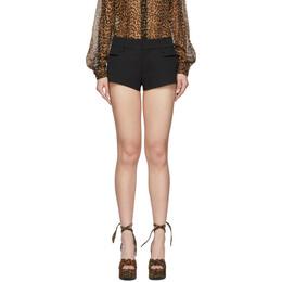 Saint Laurent Black Wool Short Shorts 614791 Y399W