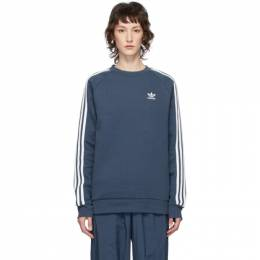 Adidas Originals Blue 3-Stripes Sweatshirt FM3778