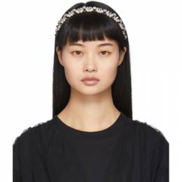 Simone Rocha Silver Pearl and Crystal Tiara HB12 0906 SILVER
