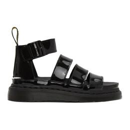 Dr. Martens Black Patent Clarissa II Sandals R24822001