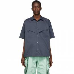 Ambush Navy Short Sleeve Shirt 12112021