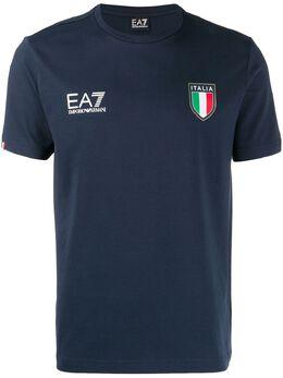 Ea7 футболка с логотипом 6GPT98PCA2Z