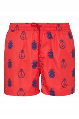Красные шорты с логотипами Billionaire 1668121767