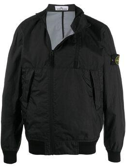 Stone Island куртка на молнии с нашивкой-логотипом MO721542323