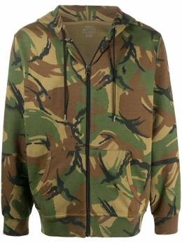 Polo Ralph Lauren camouflage print zipped hoodie 710790677