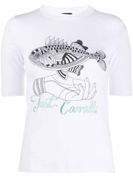 Just Cavalli футболка с графичным принтом и логотипом S04GC0375N21429