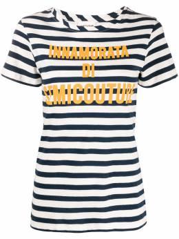 Semicouture striped logo T-shirt S0SJ28