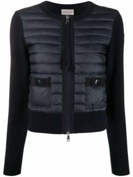 Moncler куртка со стегаными вставками F10939B50100A9001